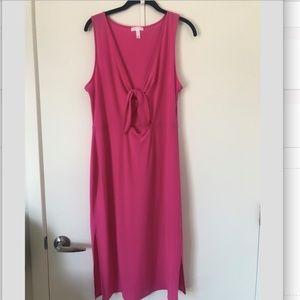 Leith Tie Front Midi Dress